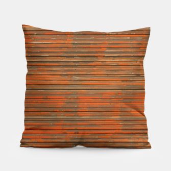Orange Grunge Print Pillow thumbnail image