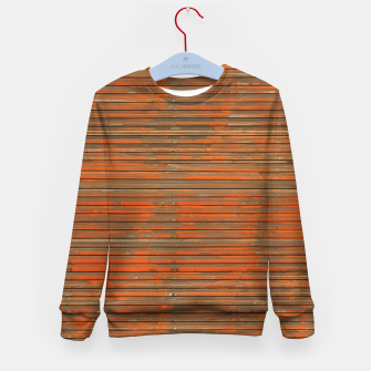 Orange Grunge Print Kid's sweater thumbnail image
