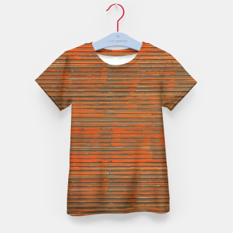 Orange Grunge Print Kid's t-shirt thumbnail image