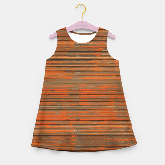 Orange Grunge Print Girl's summer dress thumbnail image