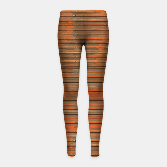 Orange Grunge Print Girl's leggings thumbnail image