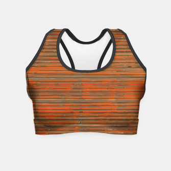 Orange Grunge Print Crop Top thumbnail image