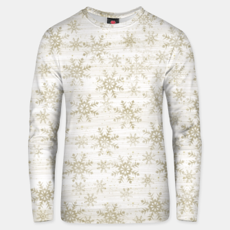 Thumbnail image of Golden Snowflakes  Unisex sweater, Live Heroes