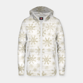 Thumbnail image of Golden Snowflakes  Zip up hoodie, Live Heroes