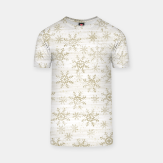 Thumbnail image of Golden Snowflakes  T-shirt, Live Heroes