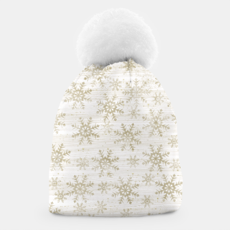 Thumbnail image of Golden Snowflakes  Beanie, Live Heroes