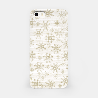 Thumbnail image of Golden Snowflakes  iPhone Case, Live Heroes