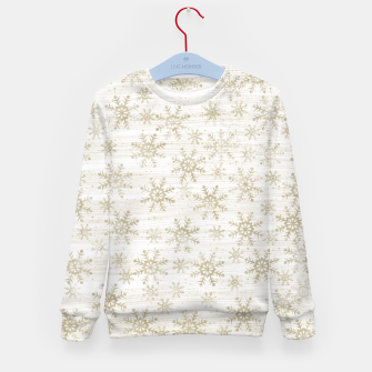 Thumbnail image of Golden Snowflakes  Kid's sweater, Live Heroes