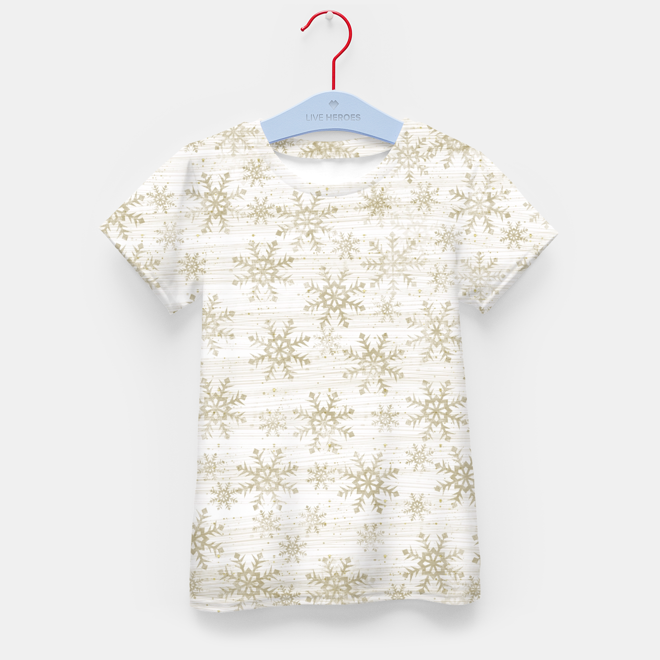 Image of Golden Snowflakes  Kid's t-shirt - Live Heroes