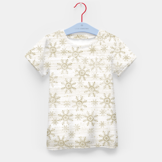 Thumbnail image of Golden Snowflakes  Kid's t-shirt, Live Heroes