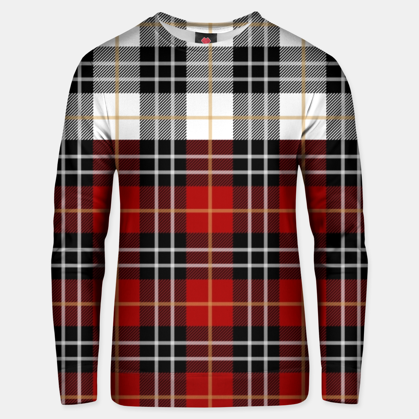Image of Checkered multicolor Winter Design  Unisex sweater - Live Heroes
