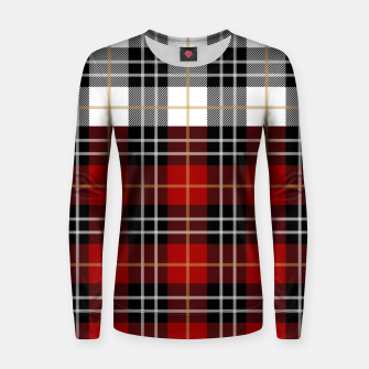 Miniatur Checkered multicolor Winter Design  Women sweater, Live Heroes