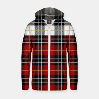 Thumbnail image of Checkered multicolor Winter Design  Zip up hoodie, Live Heroes