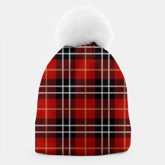 Miniatur Checkered multicolor Winter Design  Beanie, Live Heroes