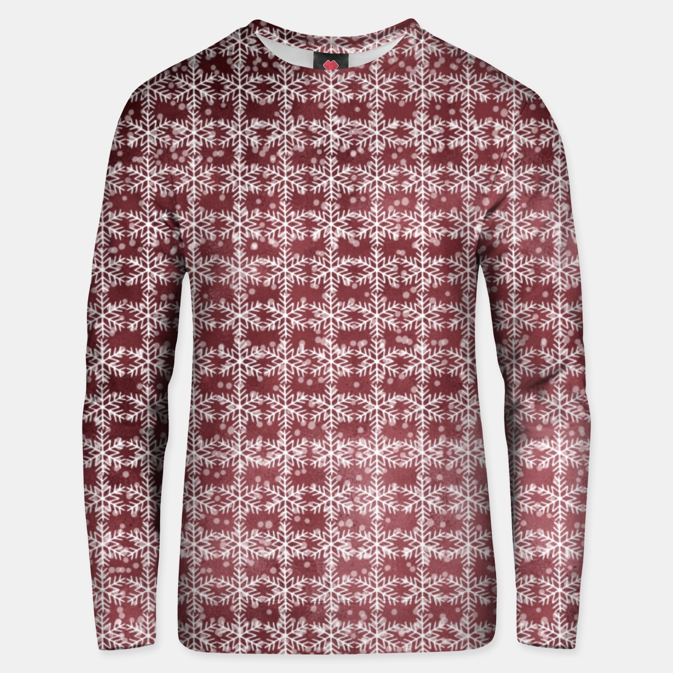 Image of Snowflakes on kopper Background  Unisex sweater - Live Heroes