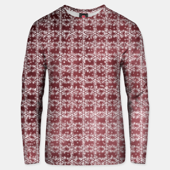 Thumbnail image of Snowflakes on kopper Background  Unisex sweater, Live Heroes