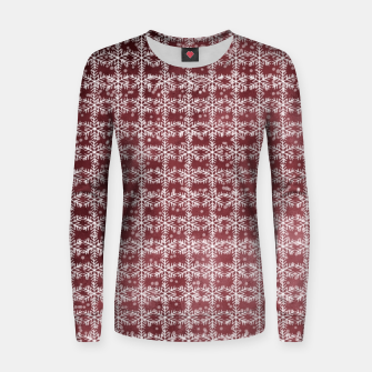 Thumbnail image of Snowflakes on kopper Background  Women sweater, Live Heroes