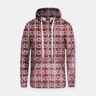 Thumbnail image of Snowflakes on kopper Background  Hoodie, Live Heroes