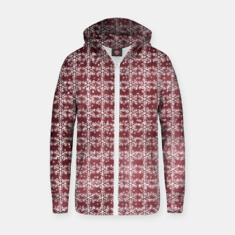 Thumbnail image of Snowflakes on kopper Background  Zip up hoodie, Live Heroes