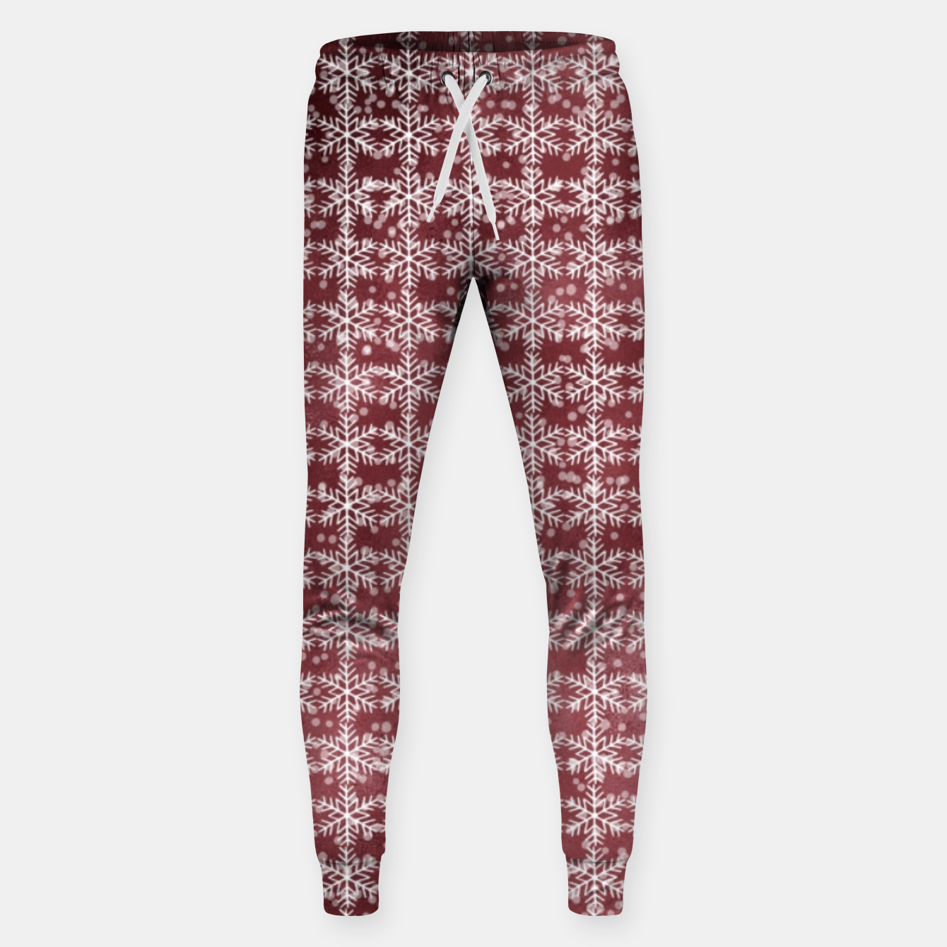 Image of Snowflakes on kopper Background  Sweatpants - Live Heroes