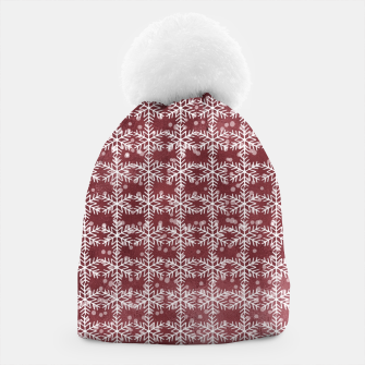 Thumbnail image of Snowflakes on kopper Background  Beanie, Live Heroes