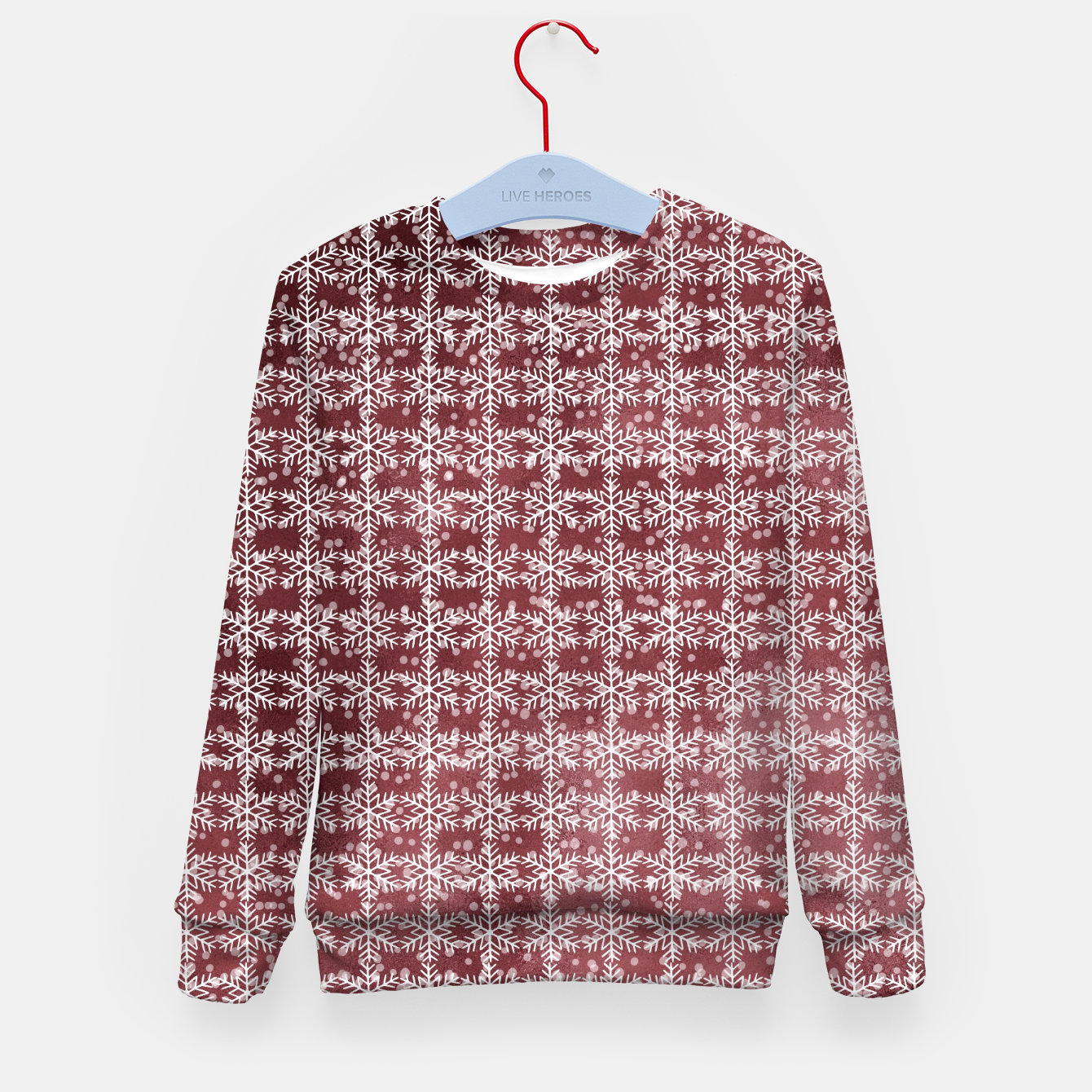 Image of Snowflakes on kopper Background  Kid's sweater - Live Heroes