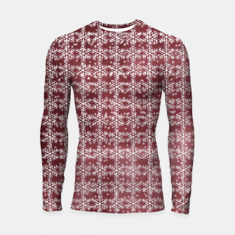 Thumbnail image of Snowflakes on kopper Background  Longsleeve rashguard , Live Heroes