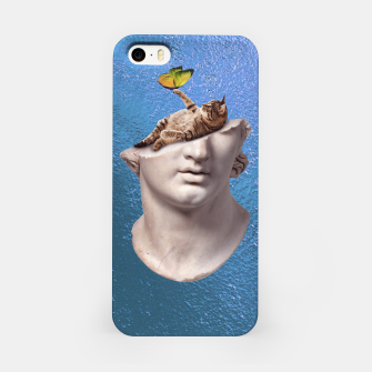 Miniatur Blue iPhone Case, Live Heroes