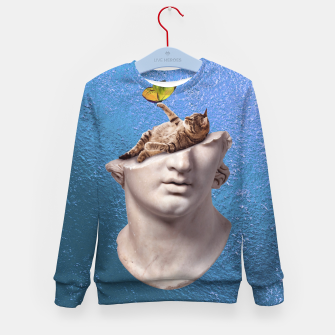 Thumbnail image of Blue Kid's sweater, Live Heroes