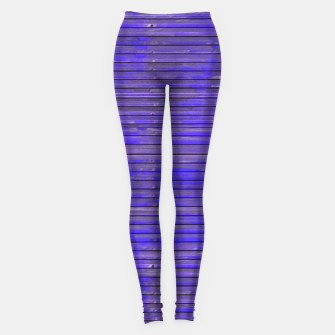 Blue Grunge Print Leggings thumbnail image