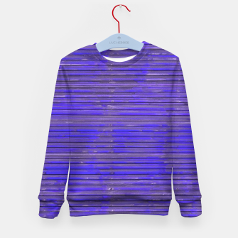 Blue Grunge Print Kid's sweater thumbnail image