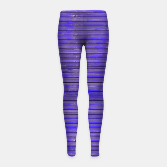 Blue Grunge Print Girl's leggings thumbnail image