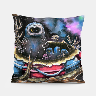 Thumbnail image of owls Pillow, Live Heroes