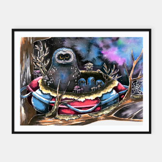 Thumbnail image of owls Framed poster, Live Heroes