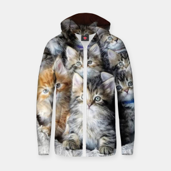 Thumbnail image of Cat Kittys Best Photo New Design Women Men Girls Gift Zip up hoodie, Live Heroes
