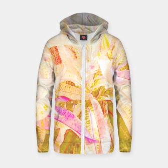 Thumbnail image of Tropical croton leaves 2/2 Zip up hoodie, Live Heroes