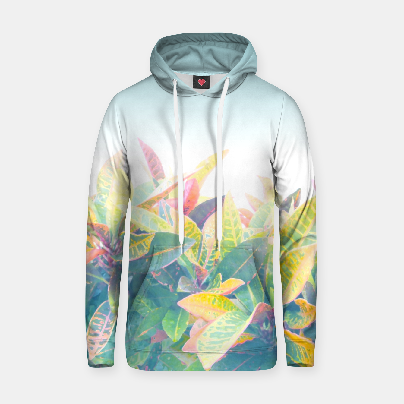 Image of After the rain / Tropical Croton Leaves 4 Hoodie - Live Heroes