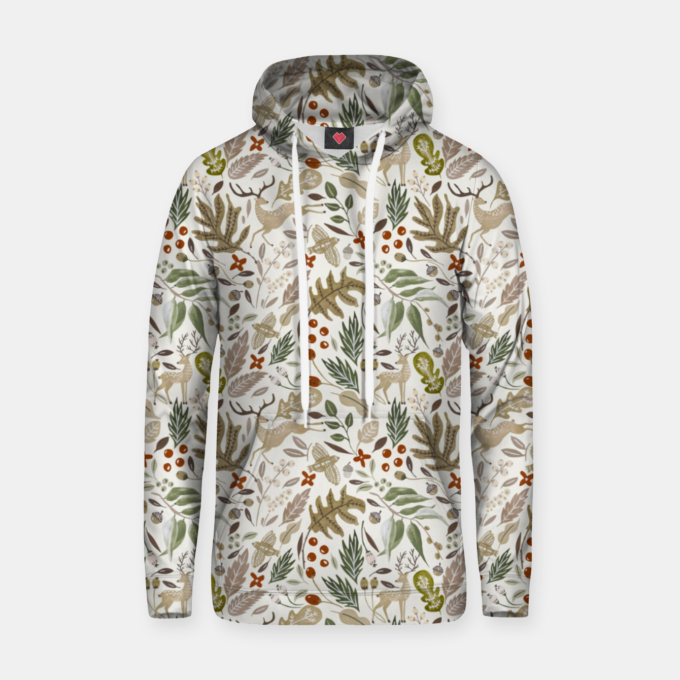 Image of Christmas in the wild nature Sudadera con capucha - Live Heroes