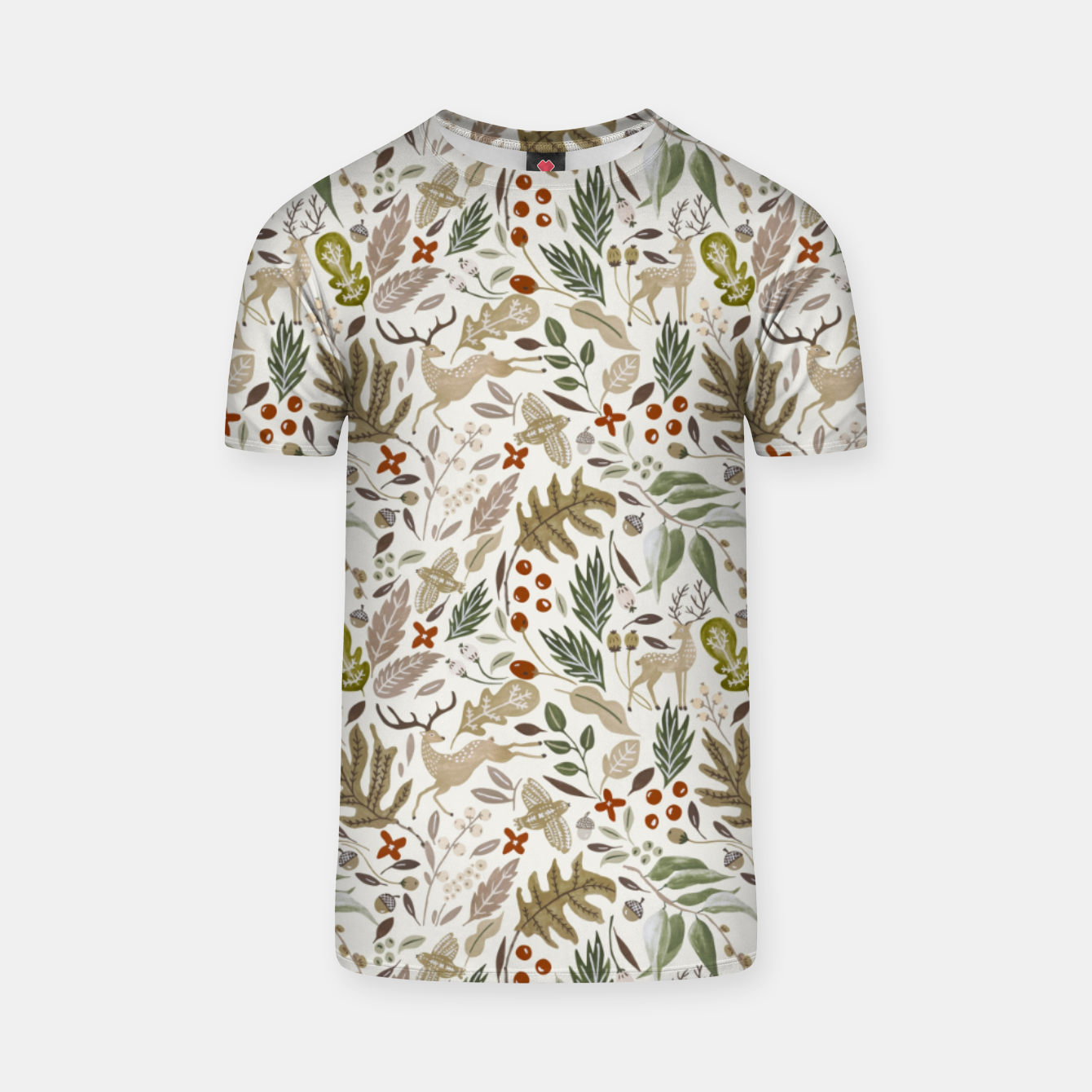 Image of Christmas in the wild nature Camiseta - Live Heroes