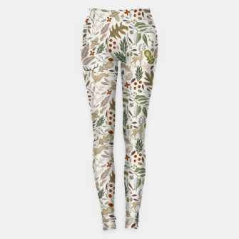 Miniaturka Christmas in the wild nature Leggings, Live Heroes