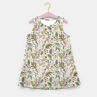 Thumbnail image of Christmas in the wild nature Vestido de verano para niñas, Live Heroes