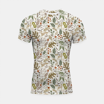 Miniatur Christmas in the wild nature Shortsleeve rashguard, Live Heroes