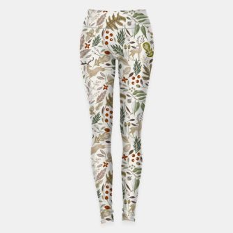 Miniature de image de Christmas in the wild nature Leggings, Live Heroes