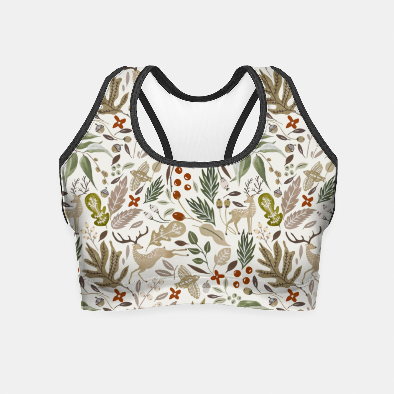 Image of Christmas in the wild nature Crop Top - Live Heroes