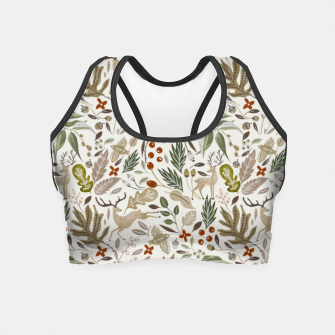 Miniatur Christmas in the wild nature Crop Top, Live Heroes