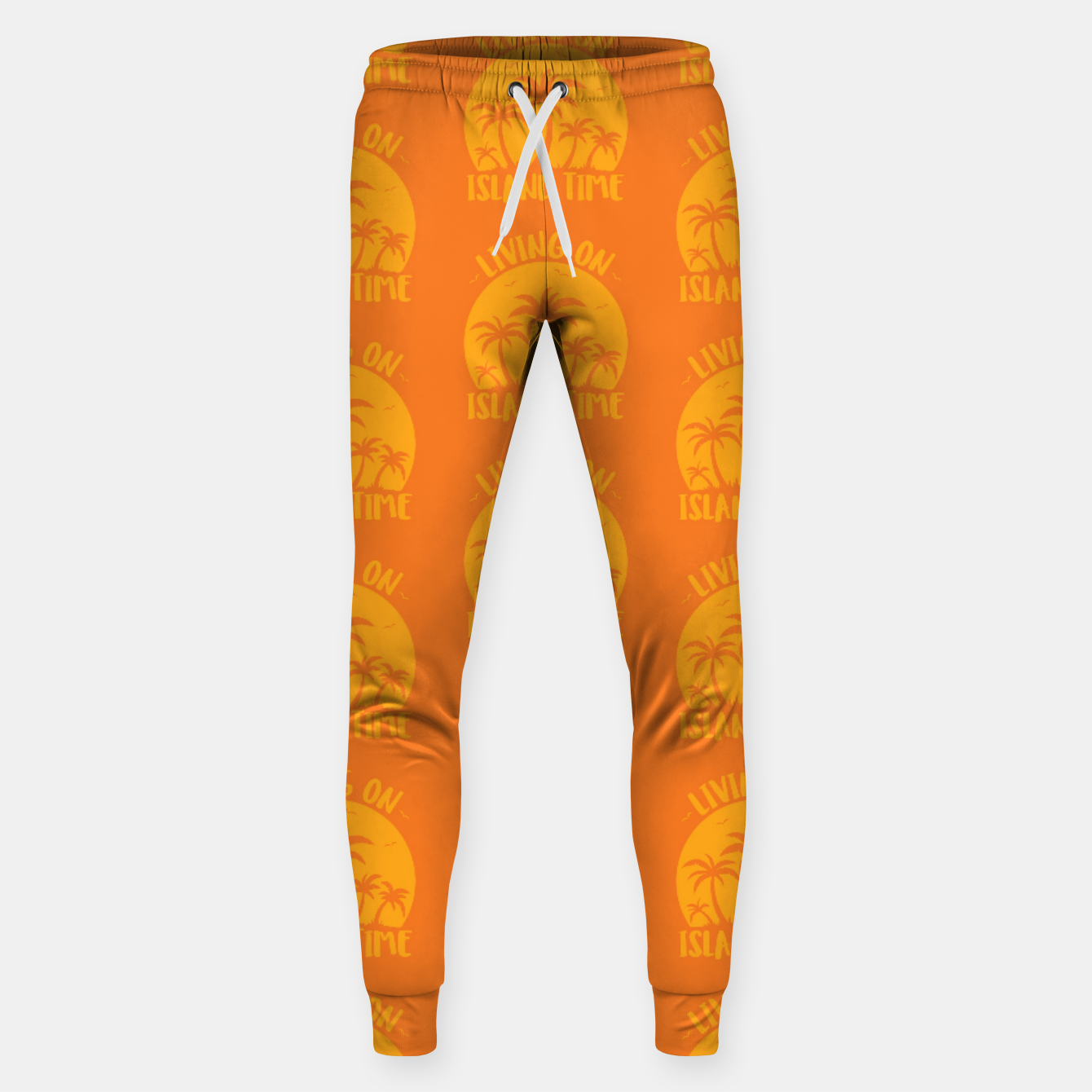 Image of Living On Island Time Palm Trees And Sunset Sweatpants - Live Heroes