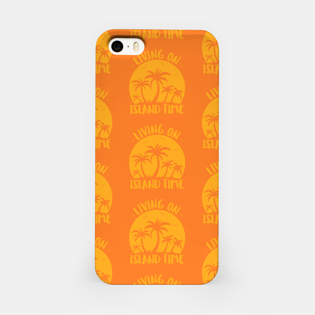 Foto Living On Island Time Palm Trees And Sunset iPhone Case - Live Heroes