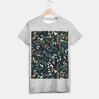 Winter night garden Camiseta Regular Bild der Miniatur