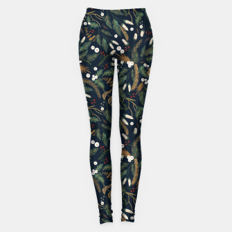Miniature de image de Winter night garden Leggings, Live Heroes