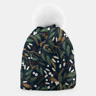 Winter night garden Gorro Bild der Miniatur